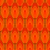 Tulip pattern abstract vector seamless background in red design Royalty Free Stock Images