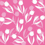 Tulip pattern background Stock Photos