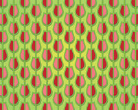 Tulip pattern decorated in spring colors Stock Photos