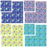 Tulip pattern Royalty Free Stock Photos