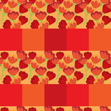 Tulip pattern seamless background Royalty Free Stock Image