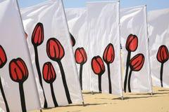 Tulip patterned wind breaks Stock Photography