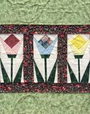 Tulip quilt Stock Photo