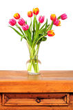 Tulip spring Easter vase table Royalty Free Stock Photo