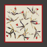 Tulip square scarf Stock Image