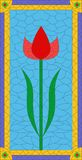 Tulip stained glass Royalty Free Stock Photo