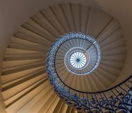 Tulip Staircase. The Tulip Staircase in the Queens House London royalty free stock photography