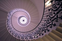 Tulip Stairs, Chambre de Queen's, Greenwich, Angleterre Images stock