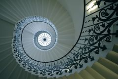 The Tulip Stairs, Queen's House, Greenwich, England stock image
