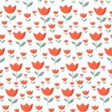 Tulip Vector Pattern sans couture Photos libres de droits