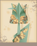 Tulip - vintage decorative paper. Royalty Free Stock Image
