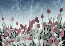 Tulip Vintage Vector Background Lizenzfreies Stockfoto