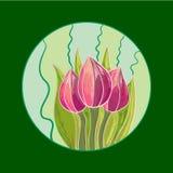 Tulipa desenhada mão Fotos de Stock