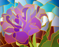 Tulipa do roxo do vitral Fotografia de Stock Royalty Free