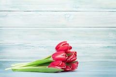 A tulipa vermelha floresce o ramalhete Fotos de Stock