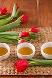Tulipanes de las toallas foto de archivo