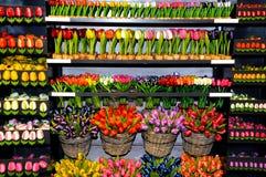 Tulipanes de madera Foto de archivo libre de regalías