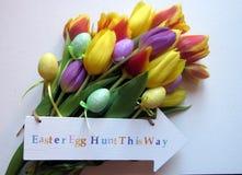 Tulipanes de Pascua Foto de archivo
