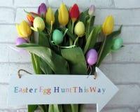 Tulipanes de Pascua Foto de archivo libre de regalías