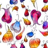 Tulipanes del arco iris stock de ilustración