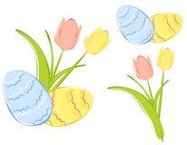Tulipanes del resorte y huevos de Pascua Clipart libre illustration