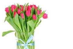 Tulipanes en el florero Fotografía de archivo libre de regalías