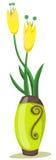 Tulipanes en florero Fotografía de archivo libre de regalías