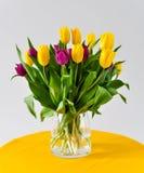 Tulipanes en florero Imagenes de archivo