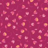 Tulipanes inconsútiles florales del modelo del vector precioso del extracto Texturas dibujadas mano de moda Diseño abstracto mode libre illustration