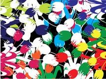 Tulipanes multicolores Imágenes de archivo libres de regalías