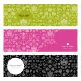 Tulipanes negros abstractos del ornamental del cordón del vector Imagen de archivo libre de regalías