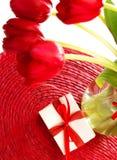 Tulipanes rojos para el día de madres Fotografía de archivo libre de regalías