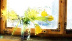 Tulipani antiquati di stile immagine stock