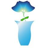 Tulipani blu in un vaso Fotografia Stock