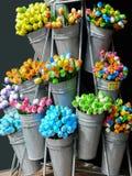 Tulipani di legno variopinti da Amsterdam fotografia stock