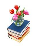 tulipani e libri Fotografie Stock Libere da Diritti