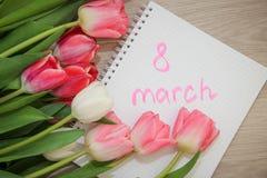 Tulipani l'8 marzo Immagini Stock Libere da Diritti