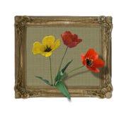 Tulipani pagina Fotografia Stock Libera da Diritti