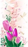 Tulipani rossi illustrazione di stock