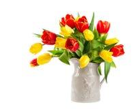 Tulipani rossi e gialli Immagine Stock Libera da Diritti