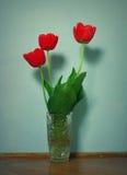 Tulipani in vaso Fotografia Stock Libera da Diritti