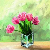 Tulipani in vaso royalty illustrazione gratis