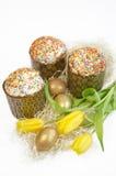 Tulipano del dolce dell'uovo di Pasqua Immagini Stock