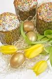 Tulipano del dolce dell'uovo di Pasqua Fotografie Stock