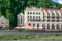 Tulipanowy austerii Rosa Khutor hotel (Aibga grań) Ośrodek Narciarski, Sochi, Rosja Obrazy Royalty Free