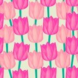 Tulipanowy bezszwowy wzór Obrazy Royalty Free