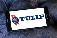Tulipanowy karmowy logo Zdjęcia Royalty Free