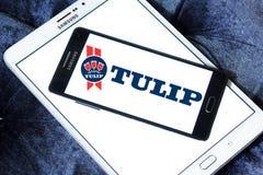 Tulipanowy karmowy logo Obrazy Royalty Free