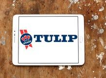 Tulipanowy karmowy logo Fotografia Royalty Free