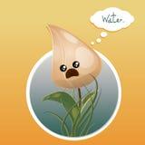 Tulipanowy kwiatu okrąg ilustracja wektor